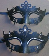 Black Jewelled Pair of Masks